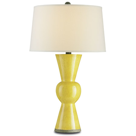 Currey and Company 6382 Upbeat Yellow Table Lamp