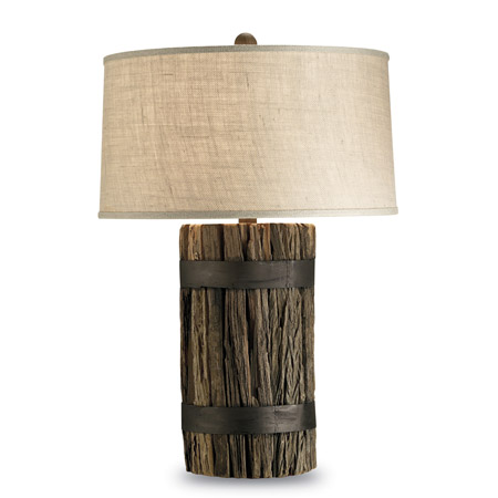 Rustic Lamp on Rustic Wharf Table Lamp   Currey   Company 6521