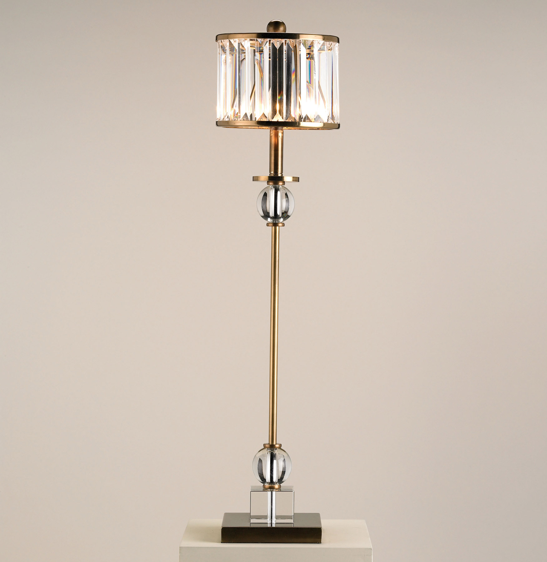 Currey And Company 6986 Crystal Parfait Table Lamp