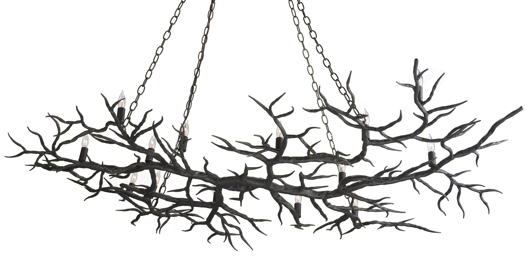 Currey and company 9007 rainforest fourteen light chandelier - Tree branch ceiling light ...