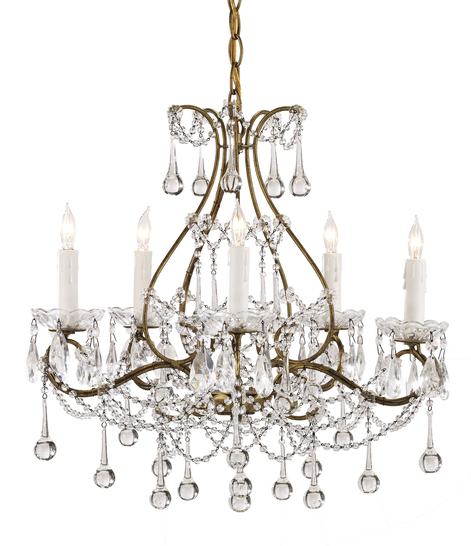 Currey and company 9008 crystal paramour five light mini chandelier - Ceiling lights and chandeliers ...