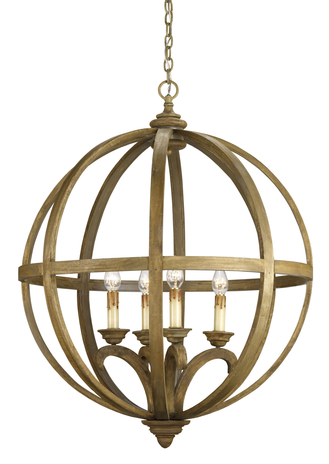 and pany 9015 Axel Four Light Orb Chandelier