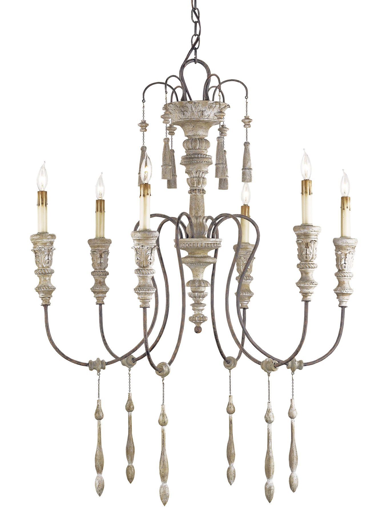 Currey And Company 9119 Hannah Small Six Light Chandelier