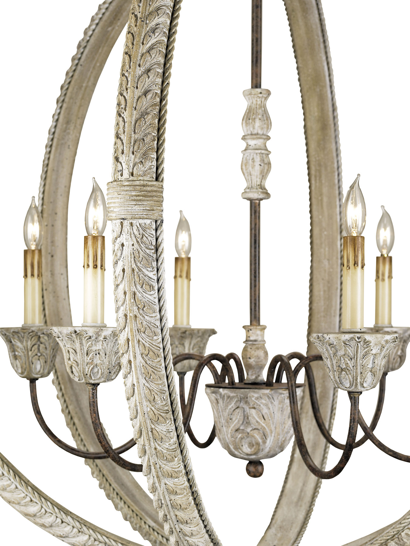 Currey and pany 9135 Dauphin Six Light Orb Chandelier