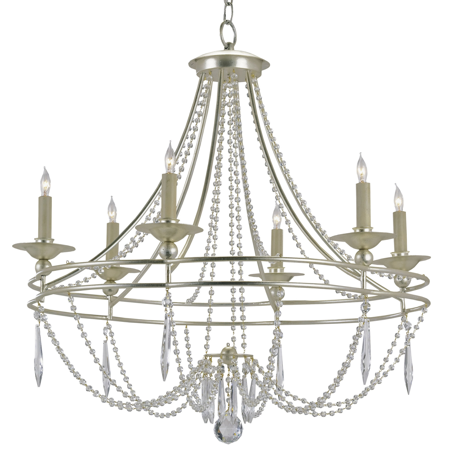 Currey And Company Lighting Website: Currey And Company 9161 Crystal Watteau Six Light Chandelier
