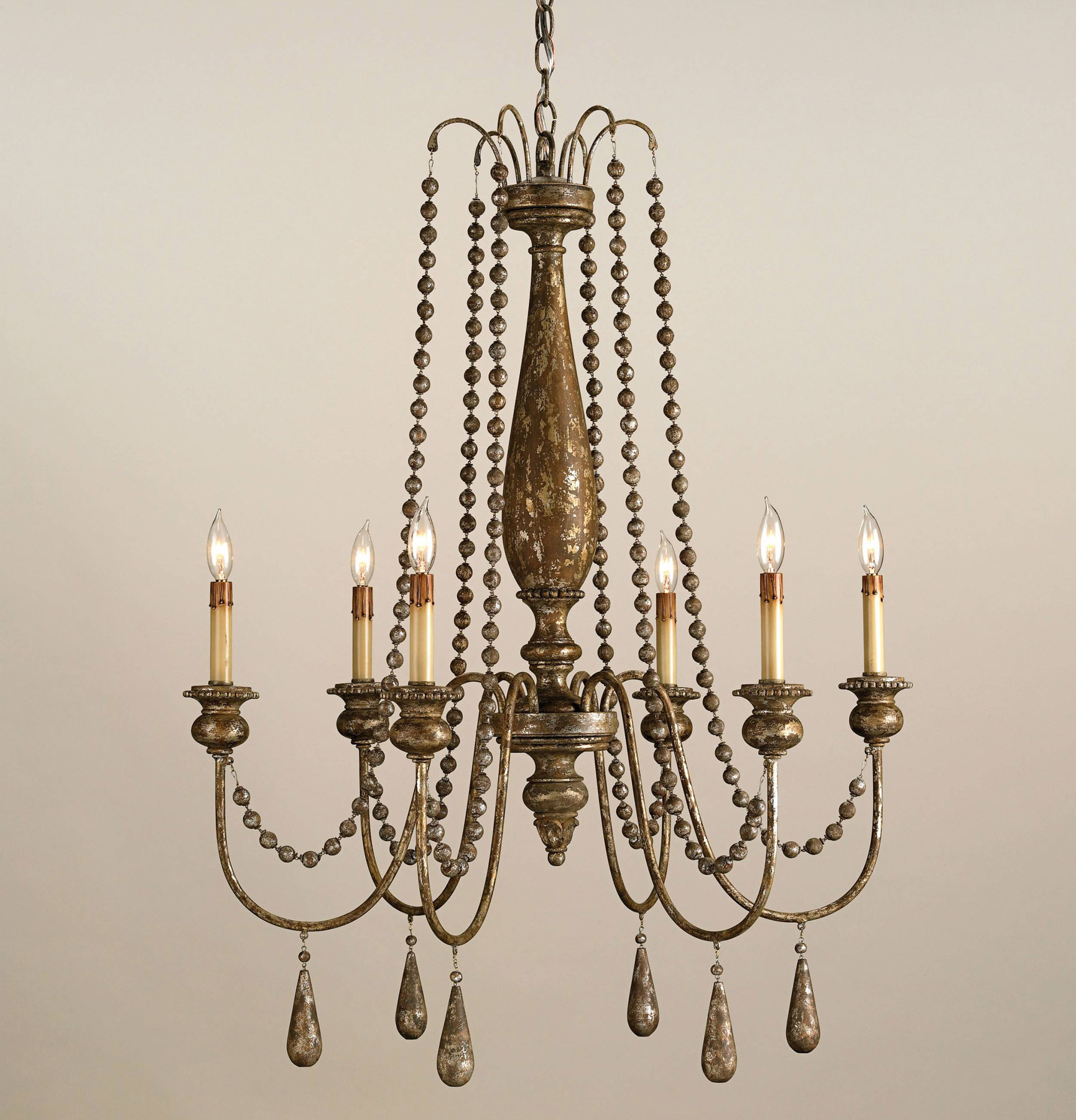 Currey And Company 9254 Eminence Six Light Chandelier