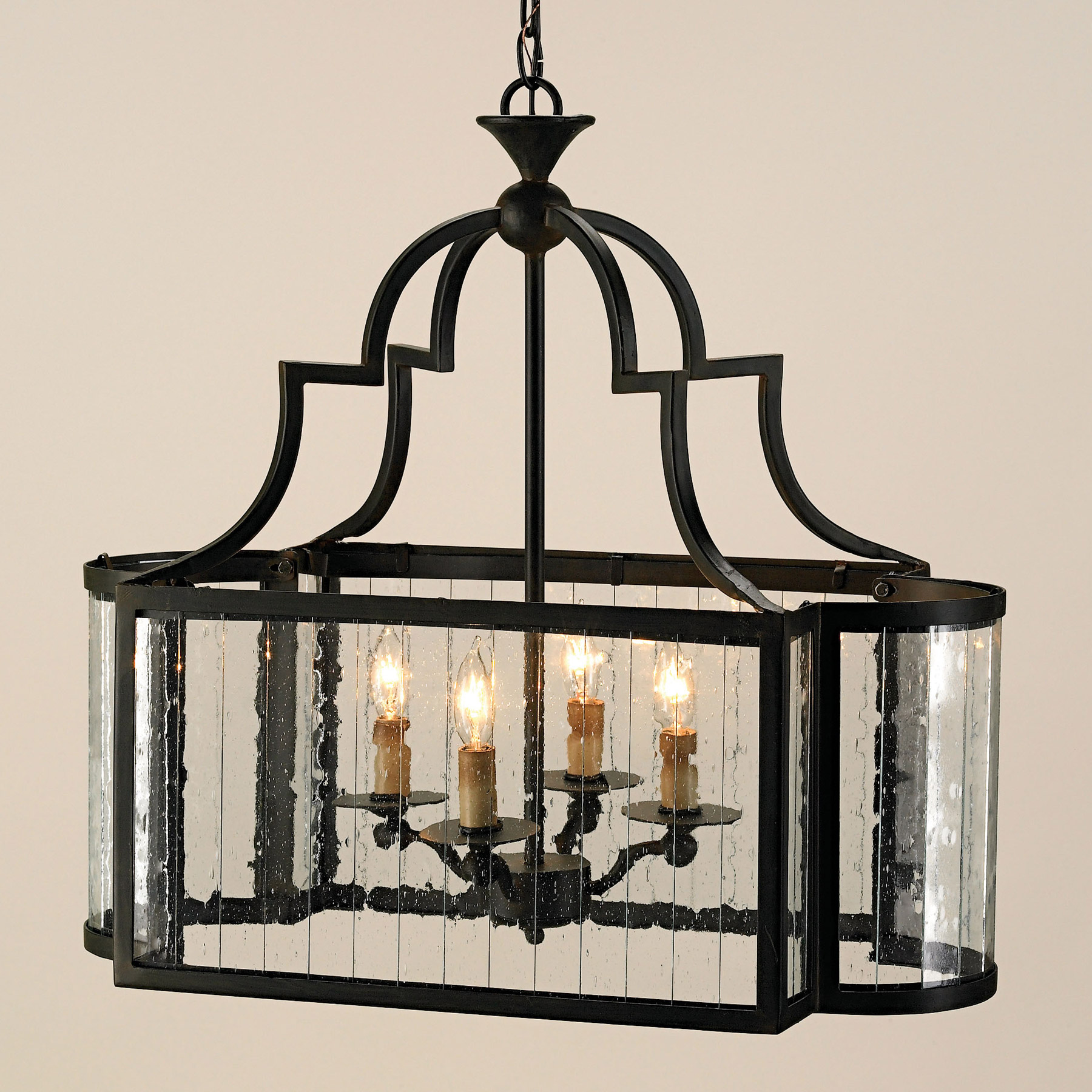 Currey And Company 9467 Godfrey Rectangular Lantern
