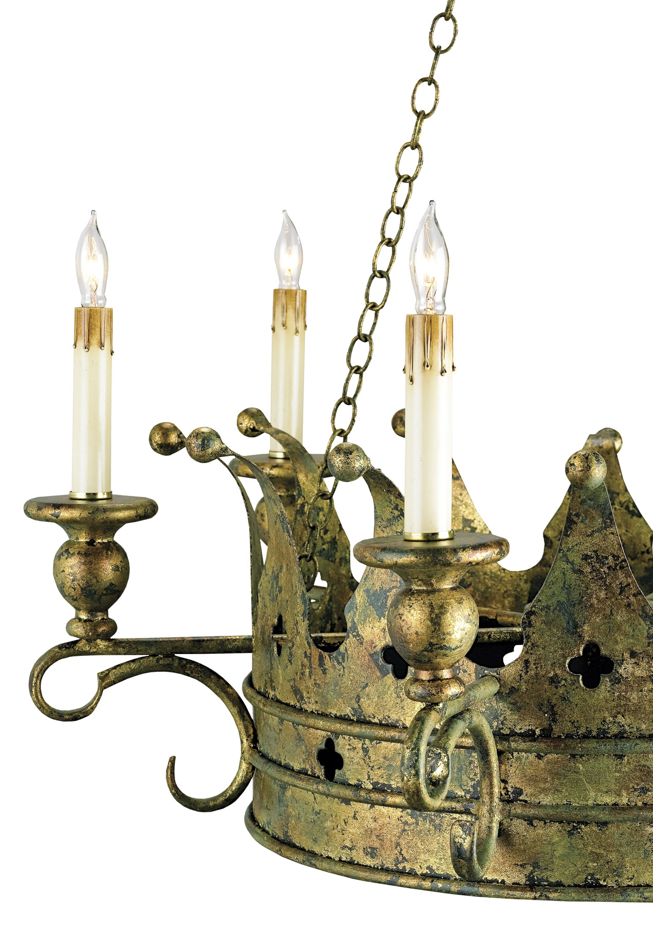 currey and company 9547 crown six light chandelier. Black Bedroom Furniture Sets. Home Design Ideas