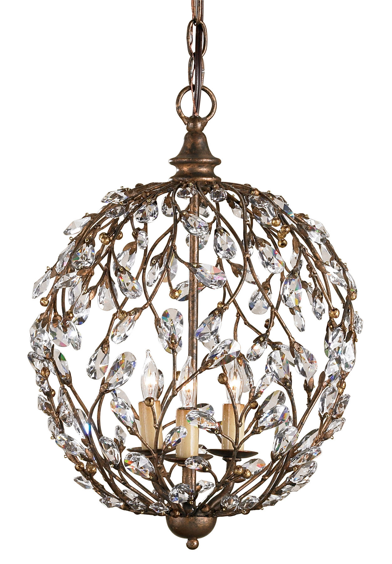 Currey And Company 9652 Crystal Crystal Bud Sphere Mini Chandelier