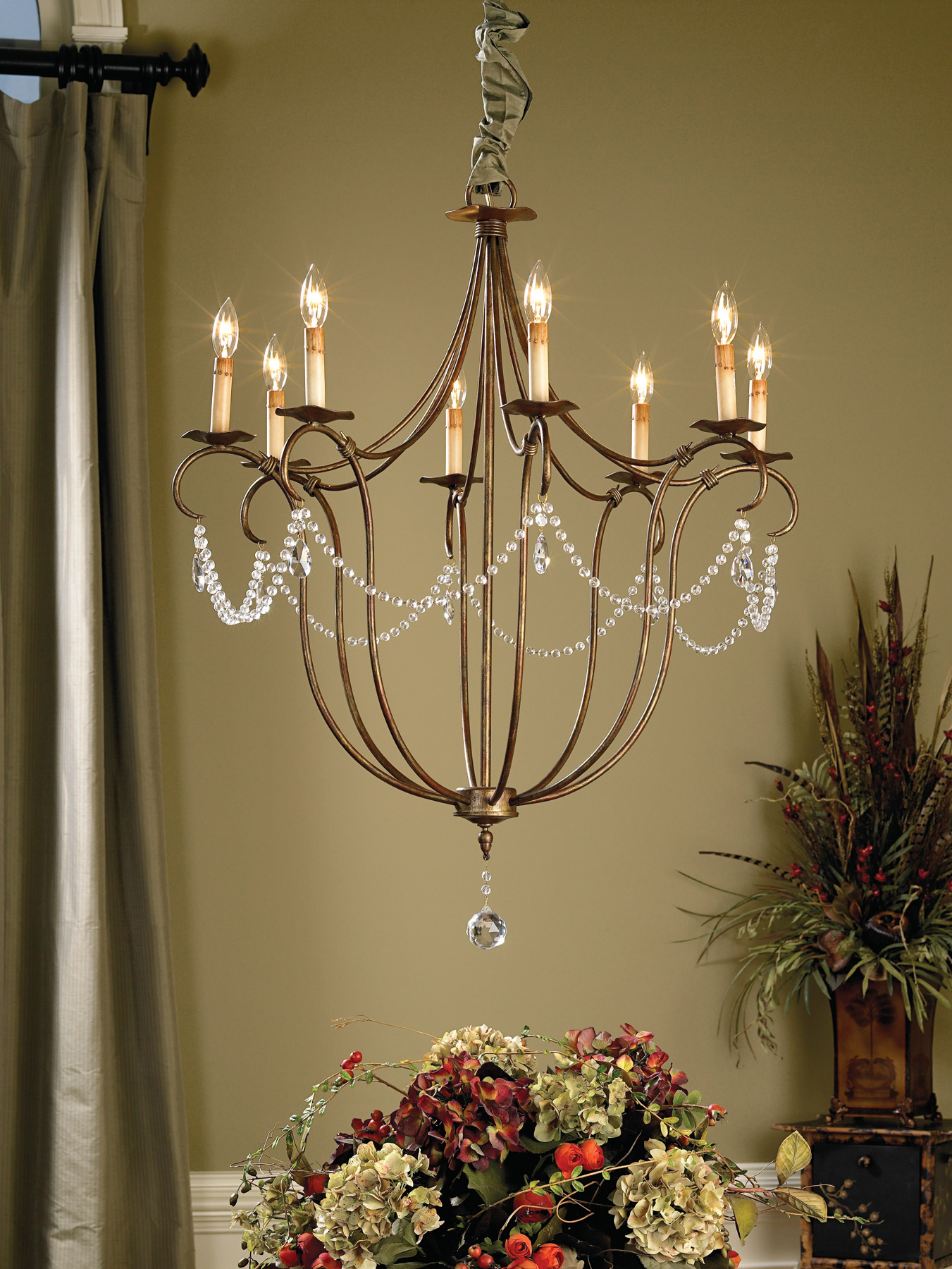 currey and company 9881 crystal lights eight light chandelier. Black Bedroom Furniture Sets. Home Design Ideas