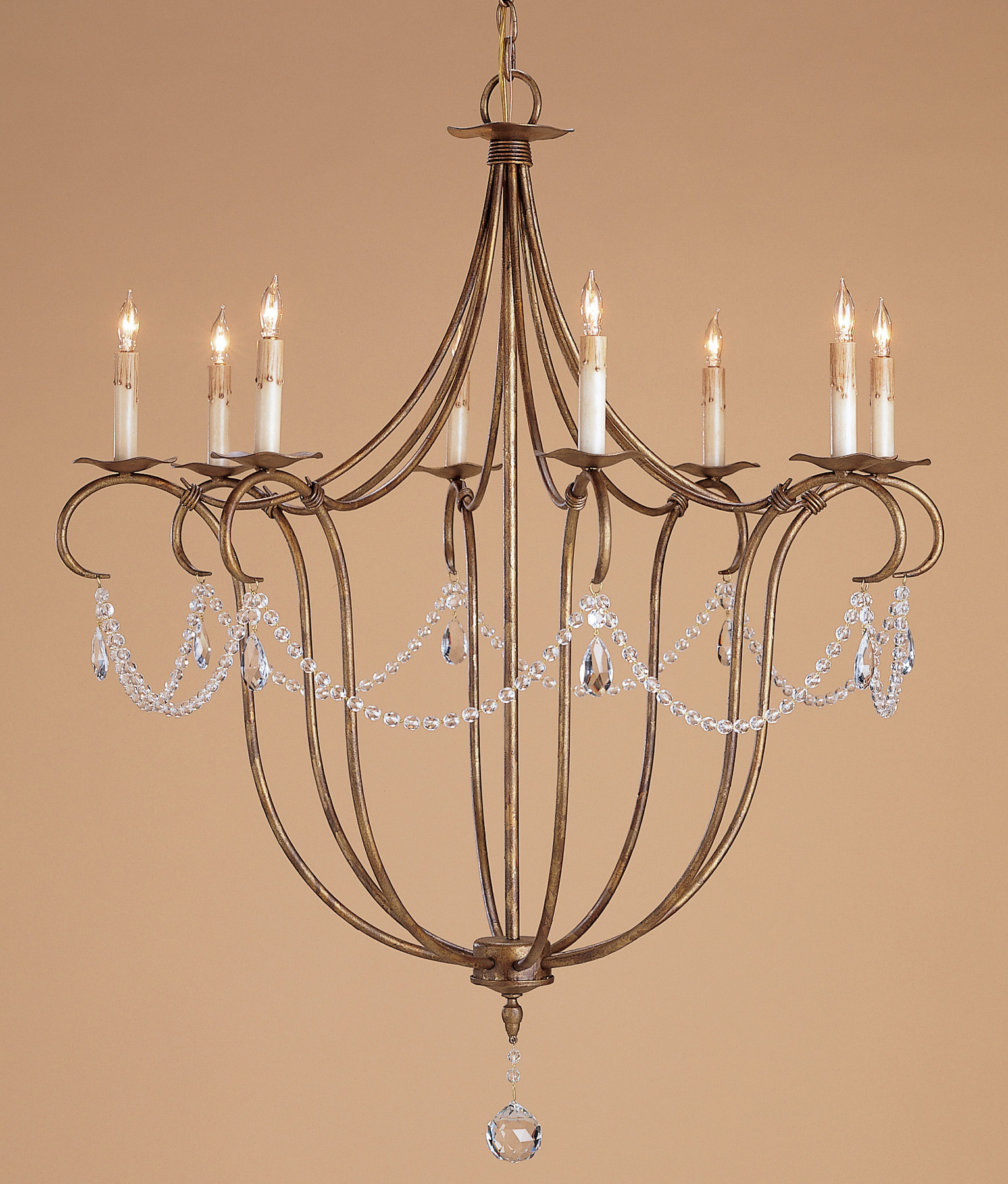 and pany 9881 Crystal Lights Eight Light Chandelier