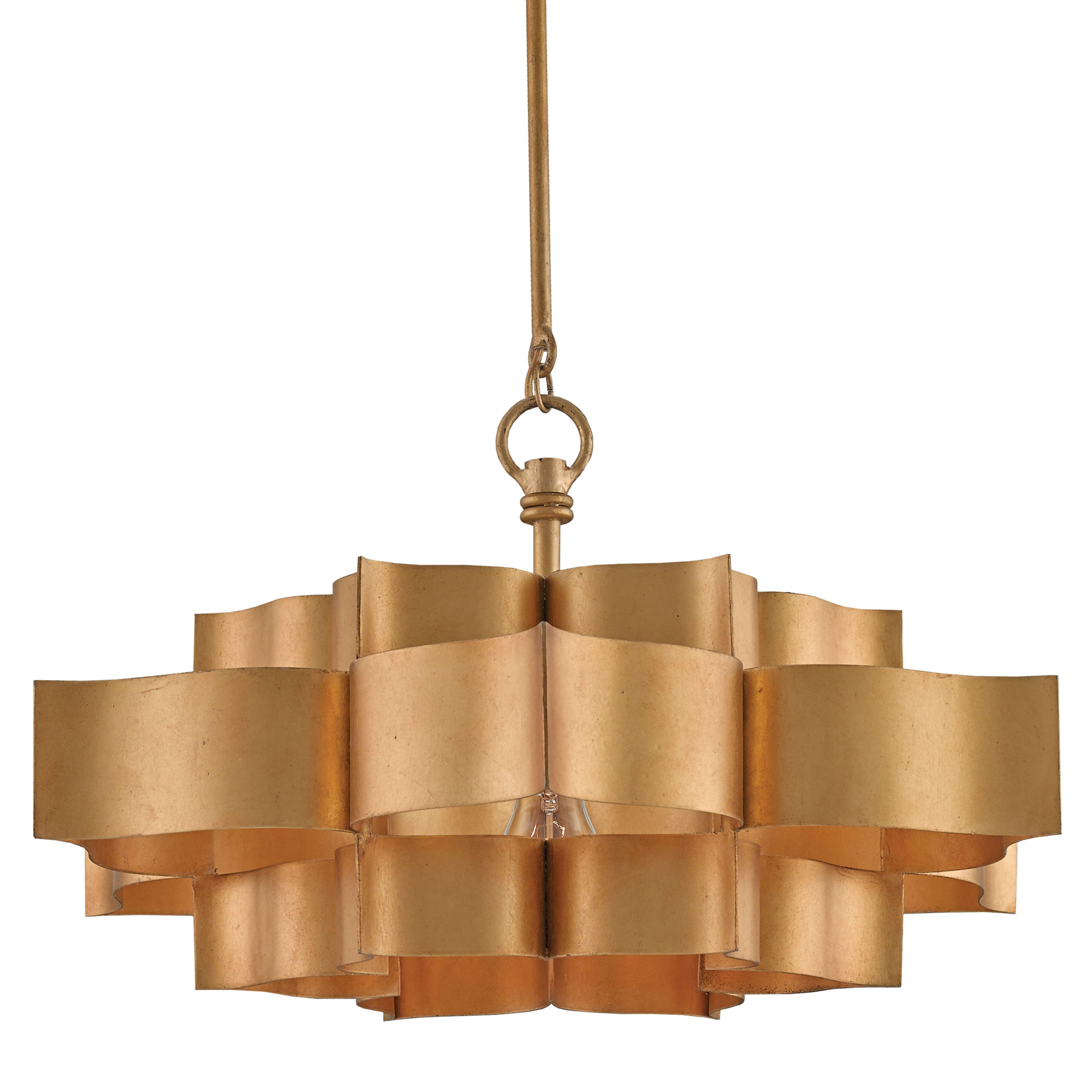Currey And Company Lotus Chandelier: Currey And Company 9944 Grand Lotus Pendant / Semi-Flush