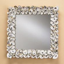 Currey and Company 1348 Oyster Shell Mirror