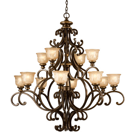 Crystorama 7412-BU Norwalk 12 Light Bronze Umber Chandelier