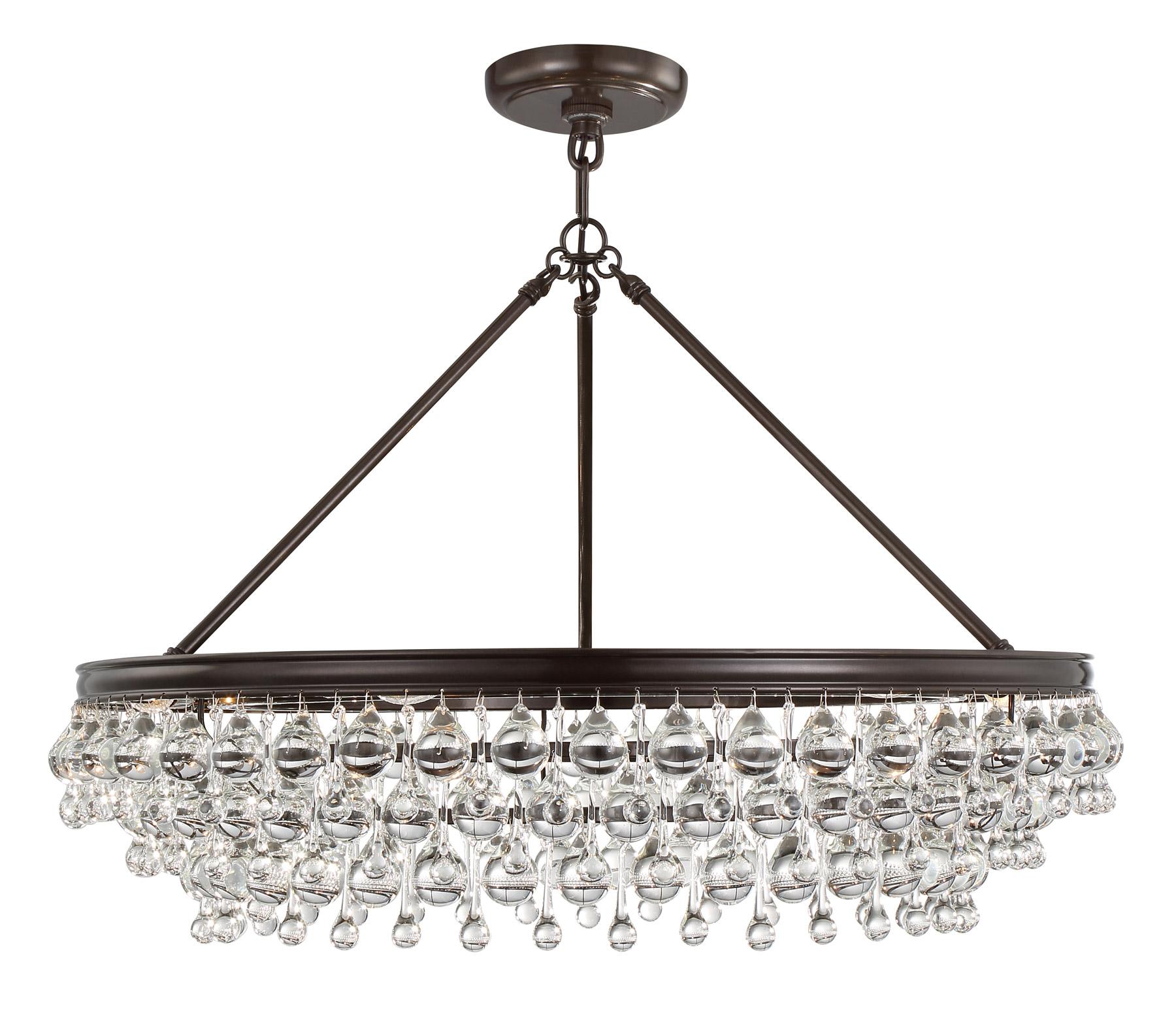 Crystorama 275 vz calypso 6 light crystal teardrop bronze chandelier aloadofball Gallery