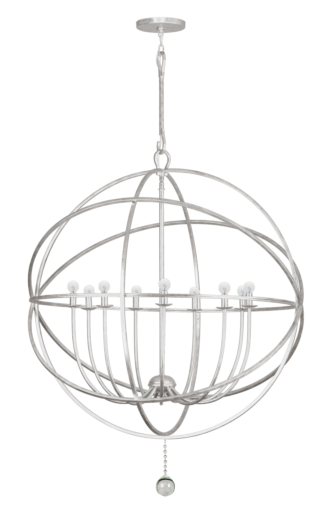 Crystorama 9229 os solaris 9 light silver sphere chandelier aloadofball Images