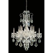 Crystorama 1045-PB-CL-MWP Crystal 12 Light Clear Crystal Brass Chandelier