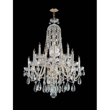 Crystorama 1110-PB-CL-MWP Crystal 10 Light Clear Crystal Brass Chandelier