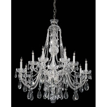 Crystorama 1112-CH-CL-MWP Crystal 12 Light Clear Crystal Chrome Chandelier