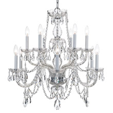 Crystorama 1135-CH-CL-MWP Crystal 12 Light Chrome Chandelier