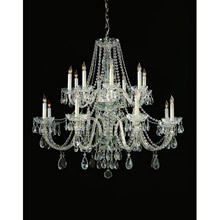 Crystorama 1139-CH-CL-MWP Crystal 16 Light Chrome Chandelier