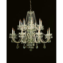 Crystorama 1139-PB-CL-MWP Crystal 14 Light Crystal Brass Chandelier