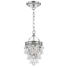 Crystorama 131-CH Calypso 1 Light Chrome Pendant