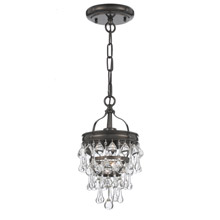 Crystorama 131-VZ Calypso 1 Light Bronze Pendant