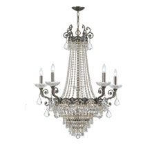 Crystorama 1486-HB-CL-MWP Crystal Majestic 13 Light Clear Crystal Brass Chandelier