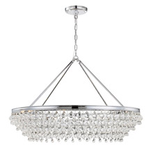 Crystorama 278-CH Calypso 8 Light Crystal Teardrop Chrome Chandelier