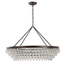 Crystorama 278-VZ Calypso 8 Light Crystal Teardrop Vibrant Bronze Chandelier