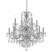 Crystorama 3228-CH-CL-MWP Crystal Imperial 12 Light Crystal Chrome Chandelier