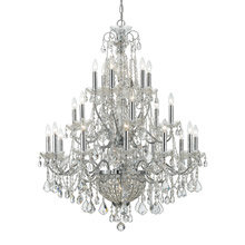 Crystorama 3229-CH-CL-MWP Crystal Imperial 26 Light Crystal Chrome Chandelier