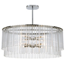 Crystorama 398-CH Bleecker 8 Light Polished Chrome Chandelier