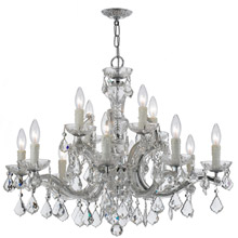 Crystorama 4379-CH-CL-MWP Crystal Maria Theresa 12 Light Clear Crystal Chrome Chandelier