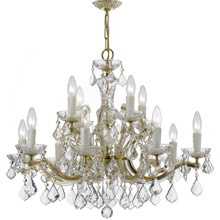 Crystorama 4379-GD-CL-MWP Crystal Maria Theresa 12 Light Clear Crystal Gold Chandelier
