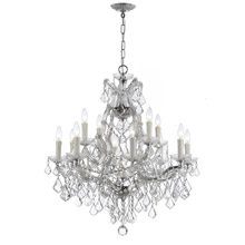Crystorama 4412-CH-CL-MWP Crystal Maria Theresa 13 Light Clear Crystal Chrome Chandelier