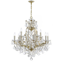 Crystorama 4412-GD-CL-MWP Crystal Maria Theresa 13 Light Clear Crystal Gold Chandelier