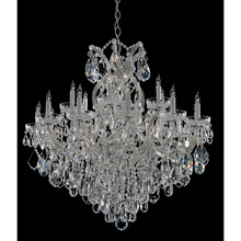 Crystorama 4418-CH-CL-I Crystal Maria Theresa 19 Light Clear Italian Crystal Chrome Chandelier