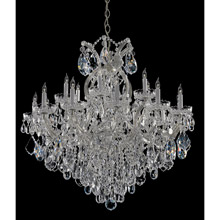Crystorama 4418-CH-CL-MWP Crystal Maria Theresa 19 Light Clear Crystal Chrome Chandelier