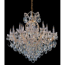 Crystorama 4418-GD-CL-MWP Crystal Maria Theresa 19 Light Clear Crystal Gold Chandelier