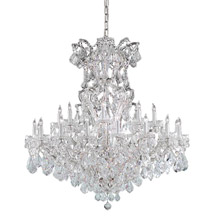 Crystorama 4424-CH-CL-MWP Crystal Maria Theresa 25 Light Clear Crystal Chrome Chandelier