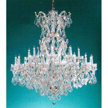 Crystorama 4424-GD-CL-MWP Crystal Maria Theresa 25 Light Clear Crystal Gold Chandelier