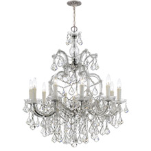 Crystorama 4438-CH-CL-MWP Crystal Maria Theresa 11 Light Clear Crystal Chrome Chandelier
