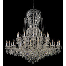 Crystorama 4460-CH-CL-MWP Crystal Maria Theresa 37 Light Clear Crystal Chrome Chandelier