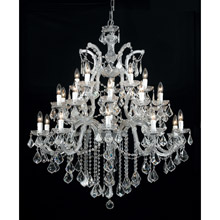 Crystorama 4470-CH-CL-MWP Crystal Maria Theresa 26 Light Clear Crystal Chrome Chandelier