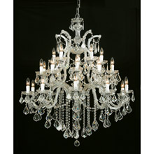 Crystorama 4470-GD-CL-MWP Crystal Maria Theresa 26 Light Clear Crystal Gold Chandelier