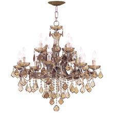 Crystorama 4479-AB-GT-MWP Crystal Maria Theresa 12 Light Golden Teak Crystal Chandelier