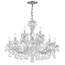 Crystorama 4479-CH-CL-MWP Crystal Maria Theresa 12 Light Clear Crystal Chandelier