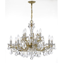 Crystorama 4479-GD-CL-MWP Crystal Maria Theresa 12 Light Clear Crystal Chandelier